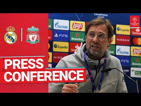 Liverpool's Champions League press conference | Real Madrid with Klopp & Jota