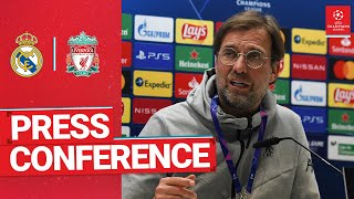 Liverpool's Champions League press conference   Real Madrid with Klopp & Jota