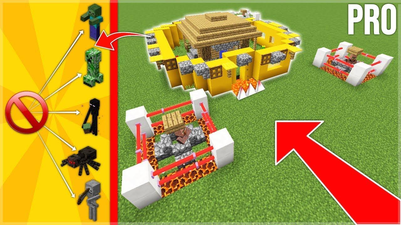 Minecraft Construire La Maison Ultime Contre Les Mobs 100 Des Mobs Base Pro