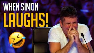 When Simon Cowell LAUGHS Out Loud! Top 10 FUNNIEST Comedians Ever! 😂