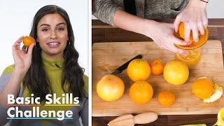 50 People Try To Make Orange Juice | Basic Skills Challenge | Epicurious