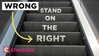 The Unseen Inefficiency of Escalator Etiquette - Cheddar Explains