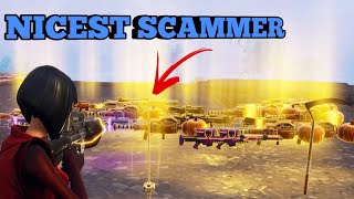 NICE Scammer Gets Scammed For The Best Items! (Fortnite Save The World)
