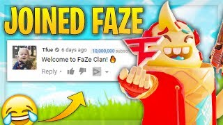 I pretended to be in FAZE CLAN on fortnite and this happened.... 😂