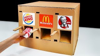 DIY How to Make KFC McDonald's and Burger King Vending Machine