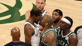 All-Access: Bucks Beat Nets In Game 3 | Giannis & Khris Set NBA Record | PJ Tucker Guards KD