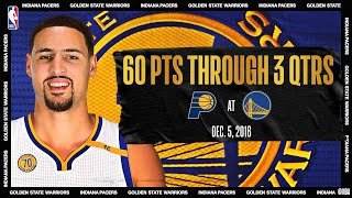 Klay Scores Career-High 60 PTS On 11 Dribbles In 3 Quarters | #NBATogetherLive Classic Game