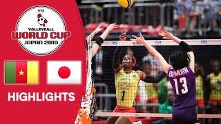 CAMEROON vs. JAPAN - Highlights   Women's Volleyball World Cup 2019