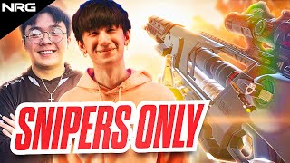 aceu and nafen take on the sniper only challenge | NRG Apex Legends
