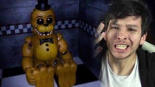 ENCONTRÉ A GOLDEN FREDDY MUY CREEPY !! ME CAGO DEL SUSTO - Five Nights at Freddys Remastered