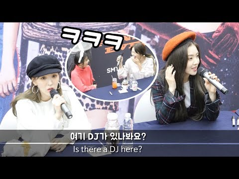 [ENG sub] 신기한 마이크에 놀란 레드벨벳 Red velvet curious, mic : 레드벨벳 Red Velvet : Edited Fancam : 팬사인회 fansign