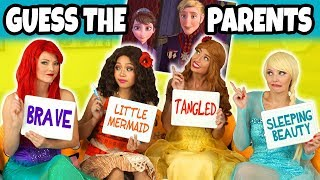 Guess the Disney Movie Parents 2. We Play Ariel, Moana, Elsa and Belle Disney Guessing Game.