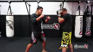 Anthony Pettis shows how to set up some kicks!