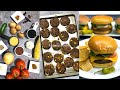 Big Batch Crowd Cooking The Best Burger Vegan Vegetarian Black Bean Video Recipe | Bhavnas Kitchen