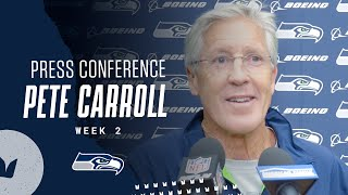 Pete Carroll Seahawks Friday Press Conference - September 17