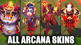All New Arcana Skins Spotlight | Lucian, Camille, Xerath, Tahm Kench (League of Legends)