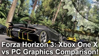 Forza Horizon 3 - Xbox One X vs PC Graphics Comparison