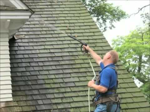 How To Get Rid Of Moss On Roof With Moss Buster 174 Youtube