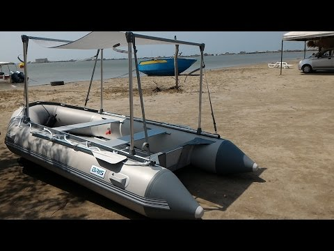 Ensamble Bote Inflable Bris 380 / Assembly Inflatable Boat Bris 380 & Intex Excursion 5 - Fabricacion Techo / Canopy Musica Movil ...