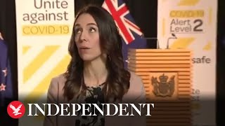 New Zealand PM Jacinda Ardern carries on with live TV inte..