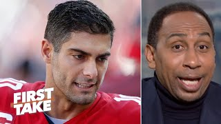 'I don't trust Jimmy Garoppolo' to win on the road in the playoffs - Stephen A.   First Take