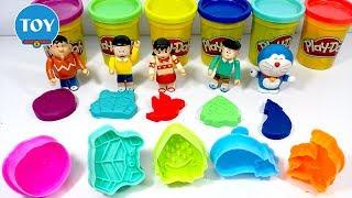 Đồ chơi Doremon - Nobita thi nặn đất sét playdoh hình con cua