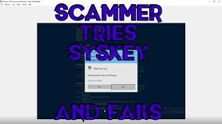 Scammer Realizes I'm Using a VM and Tries to Lock Me Out