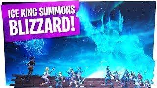 FIRST REACTIONS to the Fortnite ICE STORM EVENT - ICE BALL/KING SUMMONS BLIZZARD