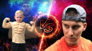 Father Vs Son Strength Challenge 3!! Nerf Battle Attack!