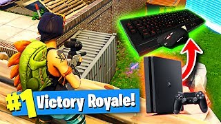 Using a KEYBOARD and MOUSE on PS4 to Win in Fortnite Battle Royale!