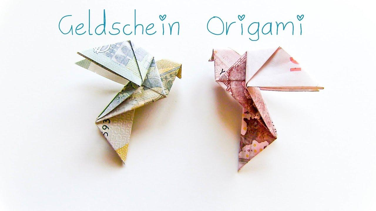 DIY Geldschein Origami Vogel Geschenkidee YouTube ~ 28230901_Liegestuhl Aus Geldschein Basteln