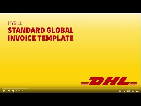 DHL MyBill - Standard Global Invoice Template
