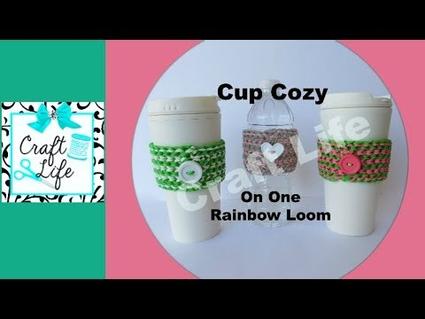Craft Life Cup Cozy Tutorial on One Rainbow Loom - YouTube Rainbow Loom Mini Purse Craft Life