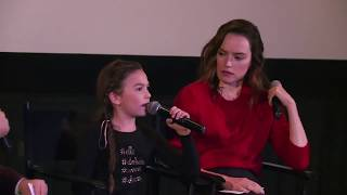 Daisy Ridley Surprises Brooklynn Prince at a Q&A for The Florida Project (2017)