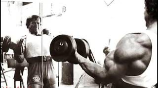 Arnold bicep workout pics 22 INCHES!!