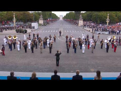 French army band medleys Daft Punk following Bastille Day parade