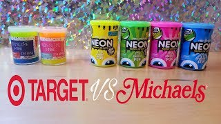 TARGET NEON SLIME COMPARED TO MICHAELS NEON SLIME ~ WHICH ONE IS BETTER?~