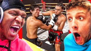 Sidemen & AnEsonGib React To FaZe Jarvis KNOCKING OUT Michael Le