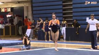 Illinois Women's Gymnastics Highlights vs Iowa 2/16