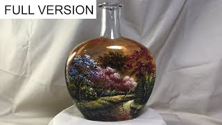 Full version : DIY Painted Wine Bottles using Vitrail Pebeo