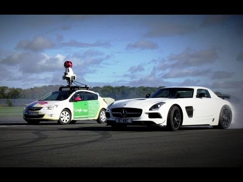 Watch The Stig Do Donuts Around A Google Street View Car In An Sls