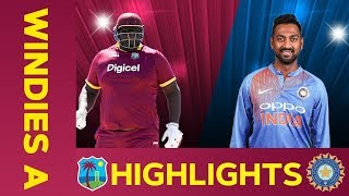 West Indies A vs India A - Match Highlights | 3rd ODI 2019 | India A Tour of West Indies