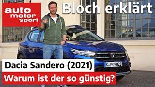 Dacia Sandero (2021): Wie baut man den günstigsten Neuwagen Deutschlands? - Bloch erklärt #130 | ams