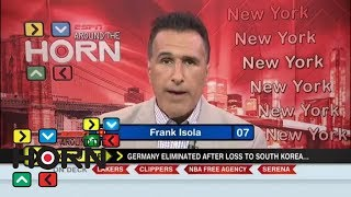 Germany getting knocked out of 2018 World Cup is a 'massive failure' | Around the Horn | ESPN