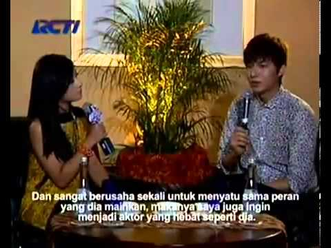 Lee Min Ho Interview with Dahsyat