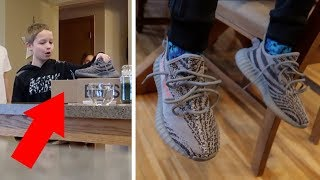 Surprising my Little Brother with YEEZYS!! **Best Reaction**