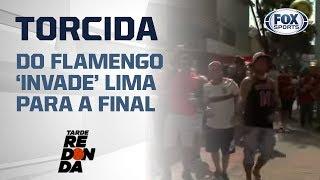 TORCIDA DO FLAMENGO 'INVADE' LIMA PARA A FINAL; VEJA