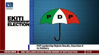 PDP Leadership Rejects Ekiti Election Results, Describes It As Robbery Pt.1 |News@10| 15/07/18