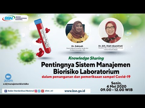 https://www.youtube.com/watch?v=vj1uAARP0iU&t=8136sKnowledge Sharing : Pentingnya Sistem Manajemen Biorisiko Laboratorium