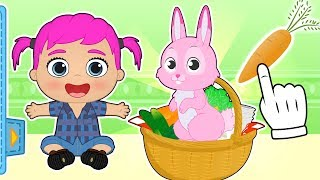 BABY ALEX AND LILY 🐰 Meet New Bunny Pet 🥕 Educational Cartoons